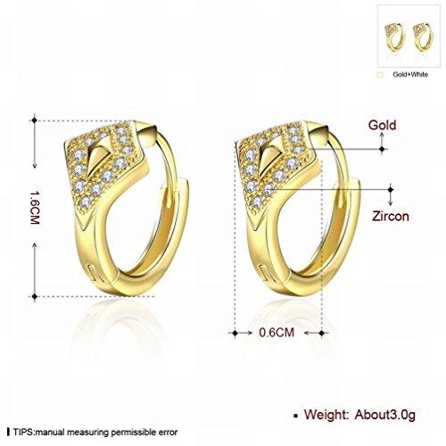 MOMO Diamond Geometry Rose Gold Zircon Boucles D'oreilles Femmes / Acier Inoxydable / Anti-allergique / Argent Clignotant / Diamants / Petits Et Fins / Zirconia