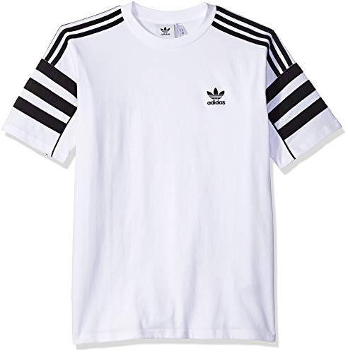Men's Tee Adidas Authentics M White Originals black Short Sleeve ggqz5x