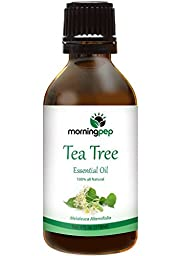 TEA TREE OIL 4 OZ by Morning Pep Large Bottle 100 % Pure And Natural Therapeutic Grade , Undiluted unfiltered and with no fillers, no alcohol or other additives , PREMIUM QUALITY Aromatherapy TEA TREE Essential oil (118 ML) Happy with Your purchase or You