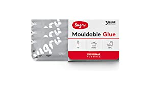 Sugru Moldable Glue - Original Formula - All-Purpose Adhesive, Advanced Silicone Technology - Holds up to 4.4 lb - Gray 3-Pack