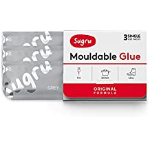 Sugru Mouldable Glue - Original Formula - Grey (3-Pack)
