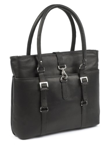 (Claire Chase Ladies Computer Handbag, Black, One Size )