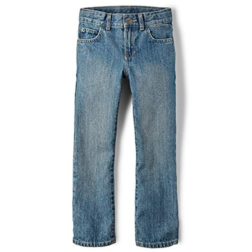 The Children's Place Big Boys' Bootcut Jeans, River, ()
