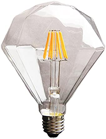 Amber Glass Edison Style Warm White 2175K Efficient 2 Watts SYLVANIA 40200 Vintage LED Diamond Shaped Bulb