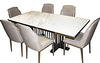 Tycoon 6 Seat Dining Table Pure Leather Dining Chair Premium