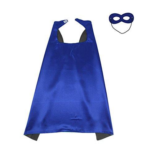LYNDA SUTTON Blue and Black Plain Superhero Capes