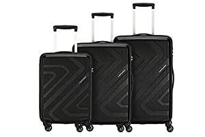 Kamiliant by American Tourister Kiza Combo set of 3 Black Small, Medium and Large 4-wheel Check-in Suitcase