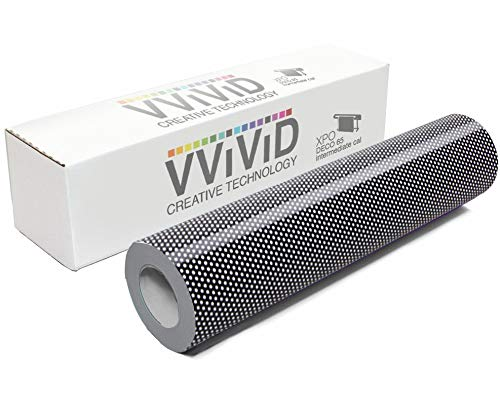 VViViD DECO65 Perforated Black Permanent Adhesive Craft 12 Inches x 5 Feet Vinyl Roll for Cricut, Silhouette & Cameo Including Free 12 Inches x 12 Inches Transfer Paper Sheet