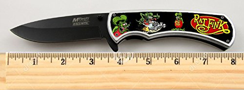 """Rat Fink Limited Edition Tactical Spring Assisted Knife 4.5"""" when closed with clip"""
