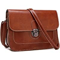Leather Shoulder Bag Fashion Brown Crossbody Bag For Lady Girls Korean Style HandBag