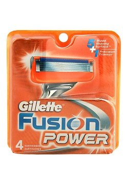 Gillette Fusion 5 Blade+ 1 Trimmer 4 Cartridge Refill Pack -