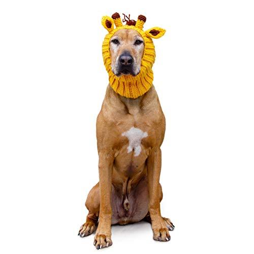 Zoo Snoods Giraffe Dog Costume - Neck and Ear Warmer Headband for Pets -