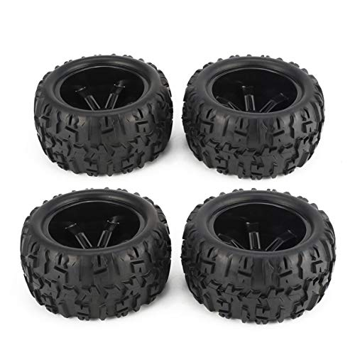 4Pcs 150mm Wheel Rim and Tires for 1/8 Monster Truck Traxxas HSP HPI E-MAXX Savage Flux Racing RC Car Accessories