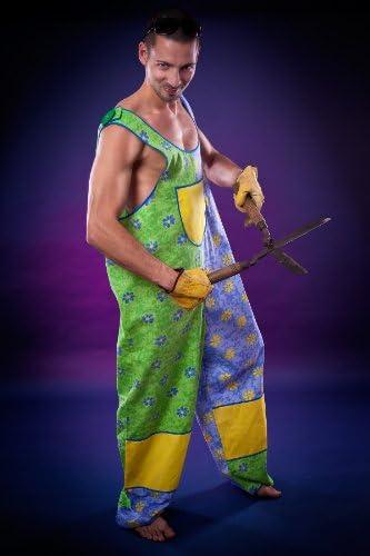 Disfraz de jardinero para hombre pantalones de peto flores talla ...