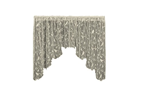 Heritage Lace Bristol Garden Swag Pair, 72 by 36-Inch, Cafe