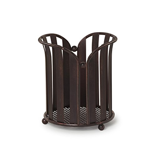 Bronze Utensil Holder - Spectrum Diversified Stripe Utensil Holder, Oil Rubbed Bronze