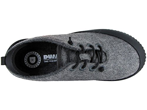 100 Wool Shoe With Sole Grey Slipper Removable Black Light Unisex Dualyz Fit OCEqSS