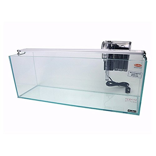 Rectangular Glass Aquarium - Mr Aqua Aquarium Mini Bookshelf 1.5 Gallon Package Aquarium