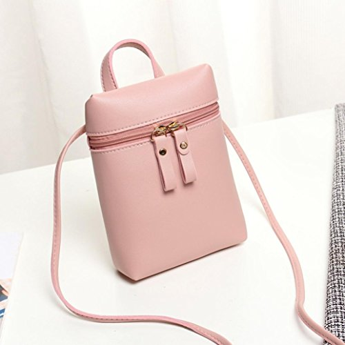 Mini Body Shoulder Mini Womens Girls Purses Square Inkach by Handbags Messenger Bags Small Chic Pink Coin Bag Cross F6qUUpxEwB
