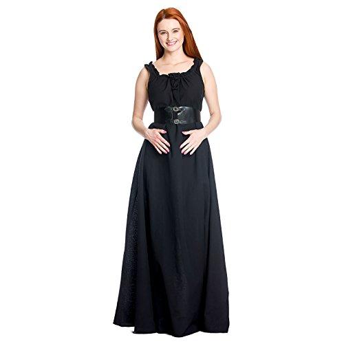 Ella Nero Cotone Medievale Leonardo Overdress Donna Uw8xqt