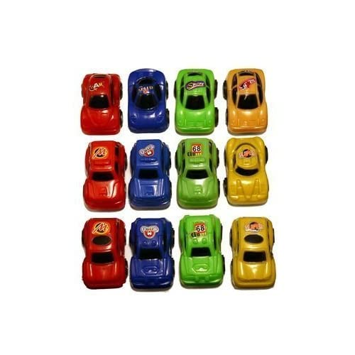"12 PETITES ""TIRER ET ALLER"" VOITURES - ASSORTED MINI PULLBACK CARS (HENBRANDT)"