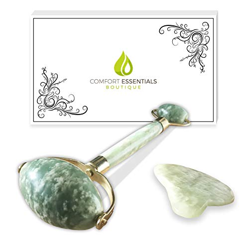 Anti-Aging Jade Roller | Facial Massager Therapy | Skin Rejuvenation With Cooling Effect | 100% Pure Real Natural Jade Stone