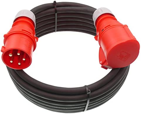 Cee Starkstromkabel Verlängerungskabel 32a 400v Gummileitung H07rn F 5g4 Mm Ip44 Außen 10m Beleuchtung