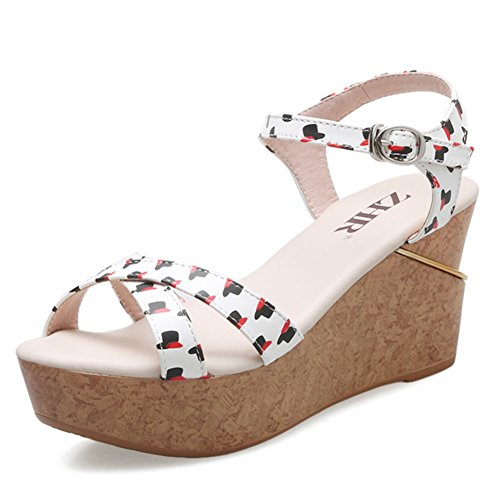Flat soled Shoes Wedge Thick Band B Sandals Heel Casual Sandals High Summer Of Shoes Women vUcqBBA