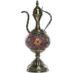 Mosaic Table Lamp Turkish Handmade Mosaic Glass Desk Table Moroccan Style Glass Desk Lamp Moroccan Lantern for Living Room Bedroom,Coffee Table