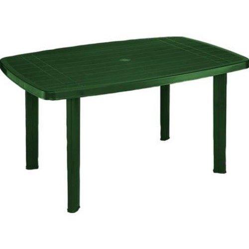 SORRENTO Tavolo rettangolare da giardino in resina Verde OEM