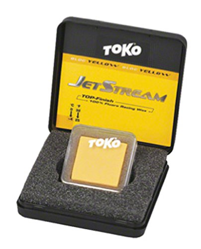Toko JetStream Block, Pure Fluorocarbon Glide Wax: Yellow; 20g by Toko