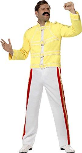 Queen Freddie Mercury Costume Yellow Medium Chest 38