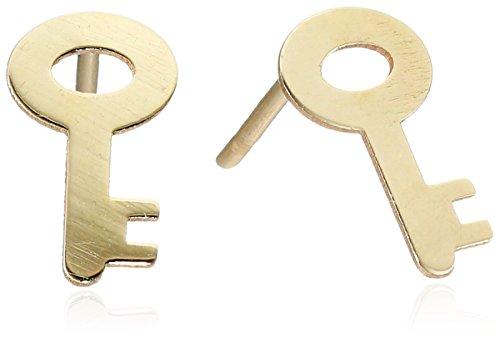 10k Yellow Gold Key Stud Earrings