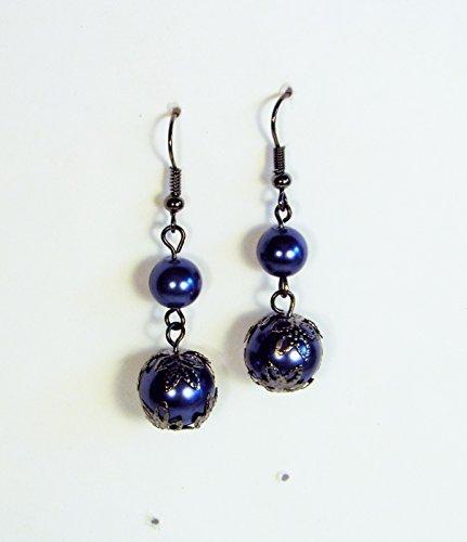 cynthia-lynn-finishing-touch-jet-hematite-tone-blue-faux-pearl-drop-earrings