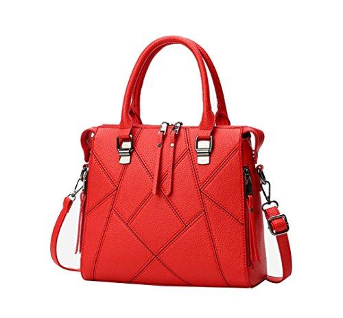 Main Bandoulière BAILIANG PU Capacité Bandoulière Womens Mode Red Sac à à Haute Sac wB01q