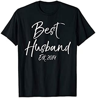 Best Gift Wedding Gift for Husband from Wife Best Husband Est. 2019  Need Funny TShirt / S - 5Xl