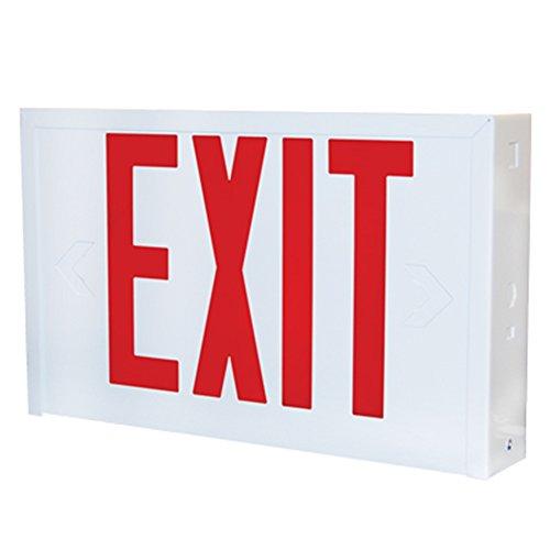 Steel Exit Sign - Lithonia Lighting LX W 3 R EL N Titan Steel White LED Emergency Exit Sign