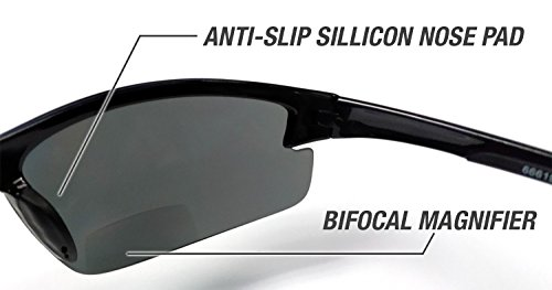 dd751730e0d Eye Ojo Renegade Patented Bifocal Polarized Reader Half Rim Men s Fishing  Sunglasses 100% UV Protection