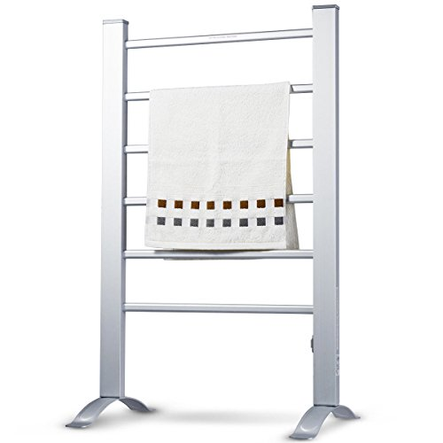 KCHEX>>>2-in-1 Freestanding Wall Mounted Electric Towel Rail Rack Bathroom Warmer Heated>This is Our New 6 Bars Mirror Polished Aluminum Heated Towel Rack, which Provides a Stable Heat Output to ()