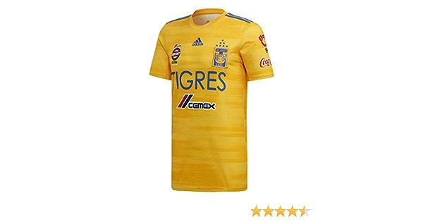 adidas Tigres UANL Home Soccer Mens Jersey - Gold 2019-20 (L ...