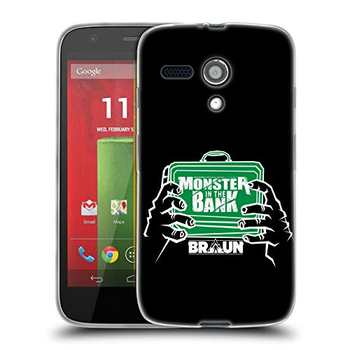 Official WWE Braun Strowman Monster in The Bank 2018/19 Superstars 4 Soft Gel Case for Motorola Moto G (1st - G Moto Case Monster