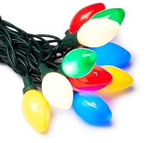 GKI/Bethlehem  Lighting Indoor/Outdoor C7 LED 25 Multi-Color Christmas Light Set, Green Cord