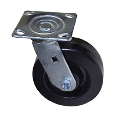 "Colson Swivel Square Plate Caster with 6"" x 2"" Phenolic Wheel 1200 lb Capacity"