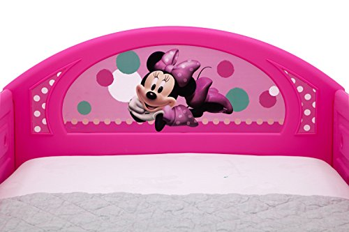 Delta Children Deluxe Disney Minnie Mouse Toddler Bed with Attached guardrails by Delta Children (Image #4)
