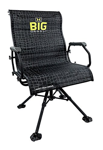 Hawk Big Denali Luxury Blind Chair – Extra Large, Silent, Comfortable, Swiveling, Portable Chair for Camping, Hunting, Fishing, Backpacking, and More