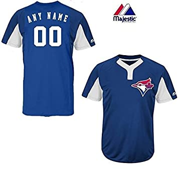 d999de94b Royal/White 2-Button Cool-Base Toronto Blue Jays Blank or CUSTOM Back  (Name/#) MLB Officially Licensed Baseball Placket Jersey