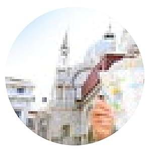 alfombrilla de ratón bandera Mapa de viaje, la lectura pareja en Venecia, Italia - ronda - 20cm