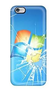Waterdrop Snap-on Broken Windows 7 Case For Iphone 6 Plus