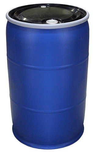 Air Sea Containers 55 Gallon Open-Head UN Rated Poly Drum with Ring Lock Lid
