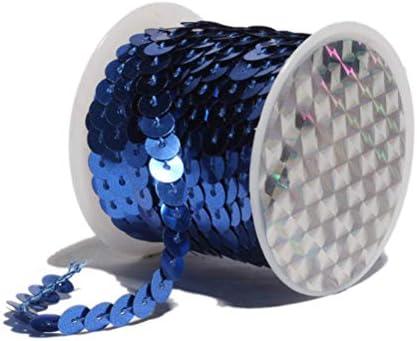 Healifty 12ピース5メートルフラットスパンコールリボンメタリックスパンコールpailletteの文字列トリムdiyブライダルウェディングアート工芸品